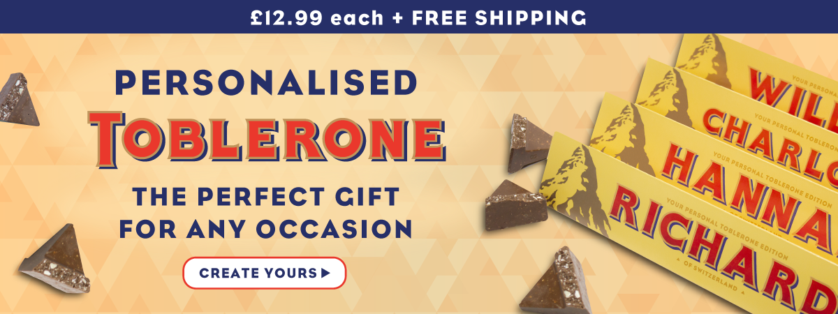 Personalised Toblerone £12.99 + Free Shipping